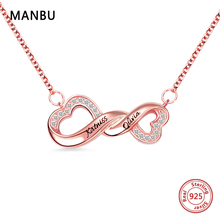 New personalized custom Infinity necklace engraved name sterling silver 925 chain necklace fashion jewelry for women anniversary manbu personalized custom superman necklace sterling silver chain necklace for women men jewelry anniversary gift free shipping