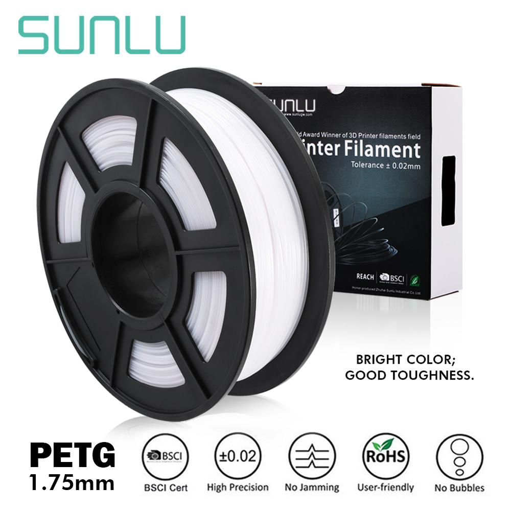 SUNLU PETG 3D Filament 1.75mm 1KG 2.2lb Full Color PETG 3D Printer Filament Dimensional Accuracy +/- 0.02 Mm 1 Kg Spool 1.75 Mm