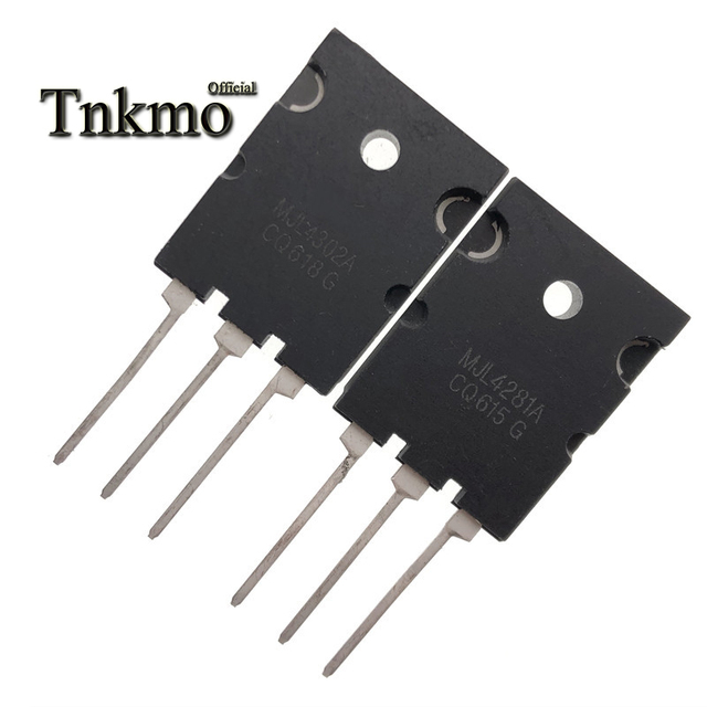 5Pairs MJL4302A TO 3PL MJL4302 + MJL4281A MJL4281 TO3PL 15A 350V 230W NPN PNP Silicon Power Transistor free delivery