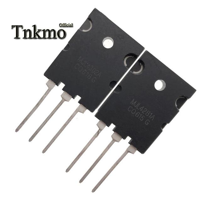 Transistor de potencia de silicona, 5 pares, MJL4302A, TO 3PL, MJL4302 + MJL4281A, MJL4281, TO3PL, 15A, 350V, 230W, NPN, PNP