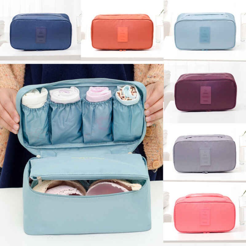 NEW Travel Home Storage Bag Oxford Waterproof For Bra Underwear Cosmetic Bag Organizer Box Toiletry Cosmetic Case