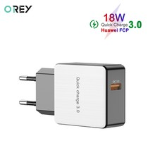 OREY 18W QC 3.0 USB Fast Charger For iPhone X Wall Charger Adapter For Xiaomi Mi 9 Quick Charge 3.0 Phone Charger(China)