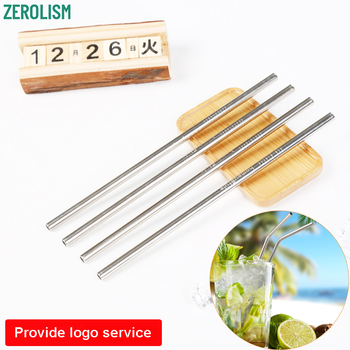 100pcs 8MM Metal Straw Reusable Stainless Steel Drinking Tubules Portable Straws For 20/30 oz Tumblers
