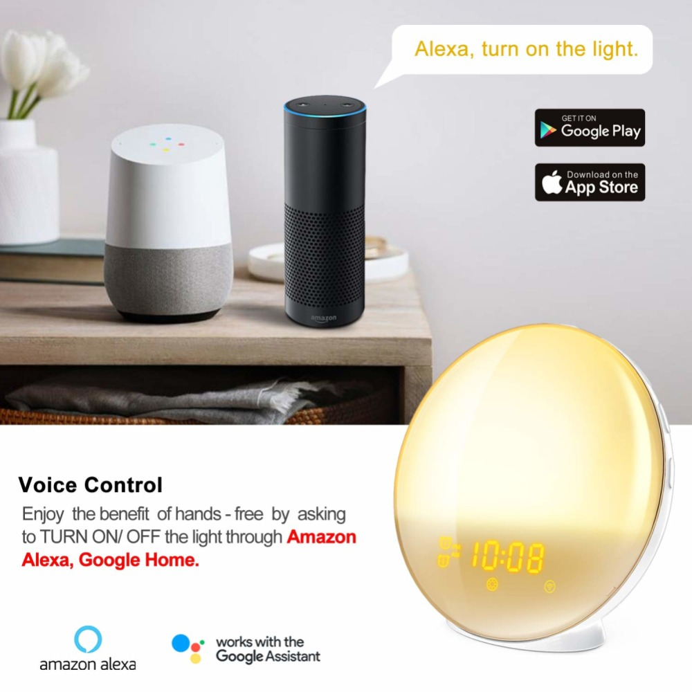 WIFI-smart-voice-control-alarm-clock-wake-digital-snooze-nature-night-light-clock-work-with-Alexa (2)