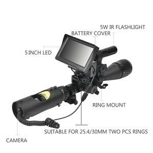 Image 2 - 850nm אינפרא אדום LED IR ראיית לילה Riflescope ציד סקופס אופטיקה Sight ציד מצלמה ציד חיות בר ראיית לילה