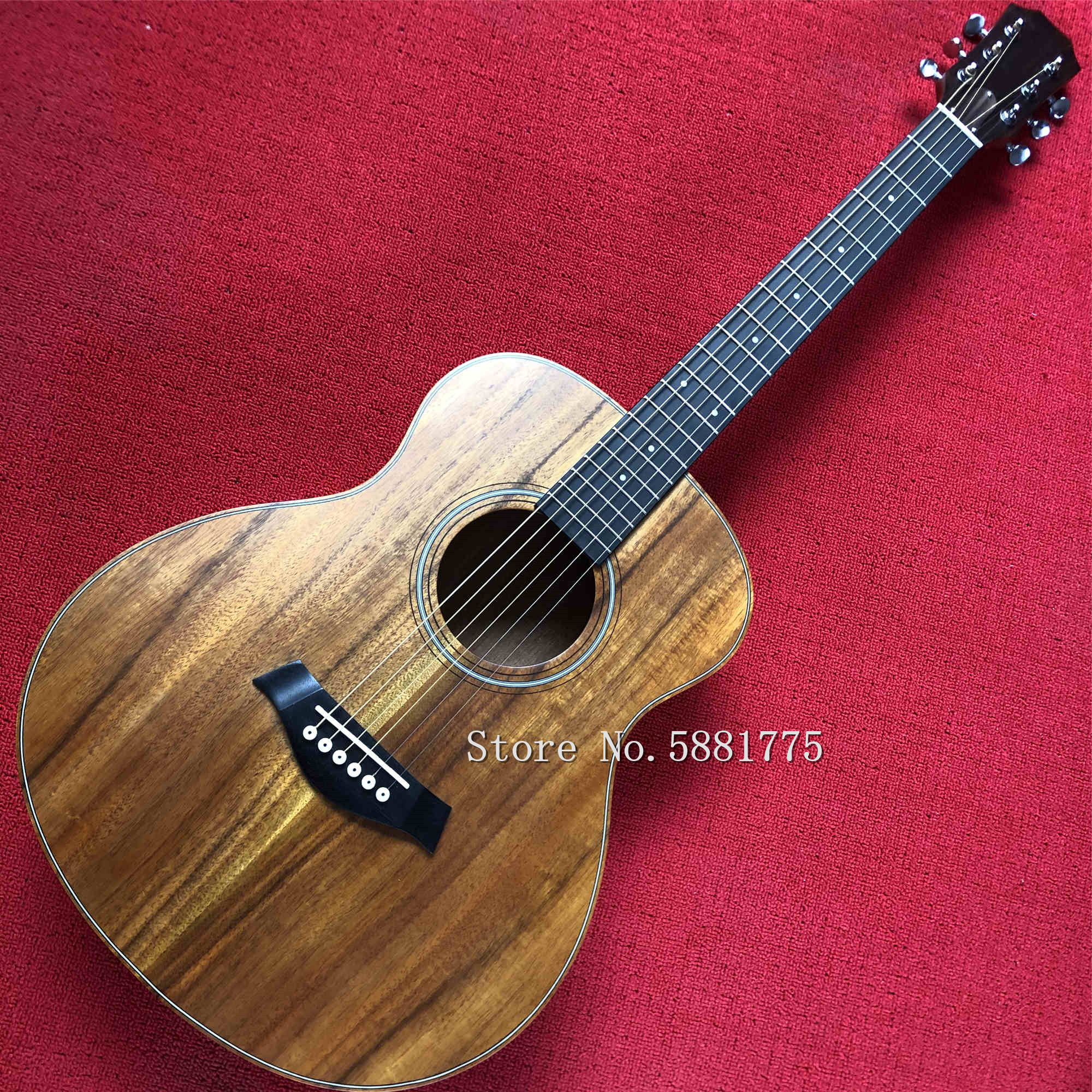 Factory new <font><b>36</b></font> inch KOA wooden acoustic <font><b>guitar</b></font>, ebony fingerboard, travel <font><b>guitar</b></font>, MINI guitarra image