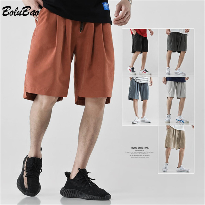 BOLUBAO Brand Men's Shorts Solid Color Casual Wild Shorts Male EU Size Breathable Fashion Simple Japanese Men Shorts