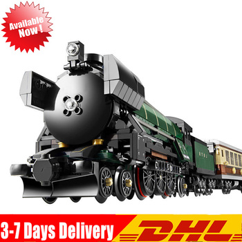 DHL IN Stock 21005 1085Pcs Emerald Night Train Set Model Building Blocks Bricks Educational Toys Gifts Compatible  10194 1
