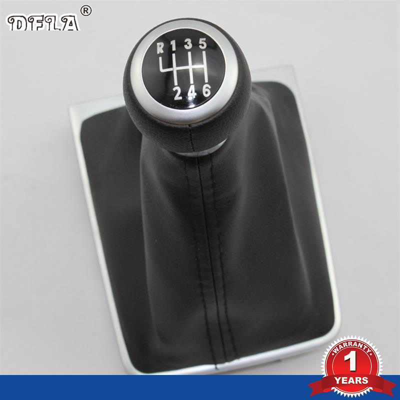 For VW Passat B6 B7 2005 2006 2007 2008 2009 2010 2011 2012 2013 2014 2015 Car 6 Speed Gear Stick Shift Knob With Leather Boot