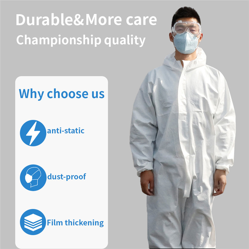 Reusable Medical Virus Isolation Clothing Hazmat PPE Suit Anti-Virus Protective Clothing Safety Disposable Washable Coverall
