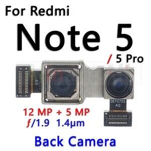 Image 2 - Original pour Xiaomi Redmi Note 5 5A Pro Plus petit avant et principal grand arrière caméra câble flexible