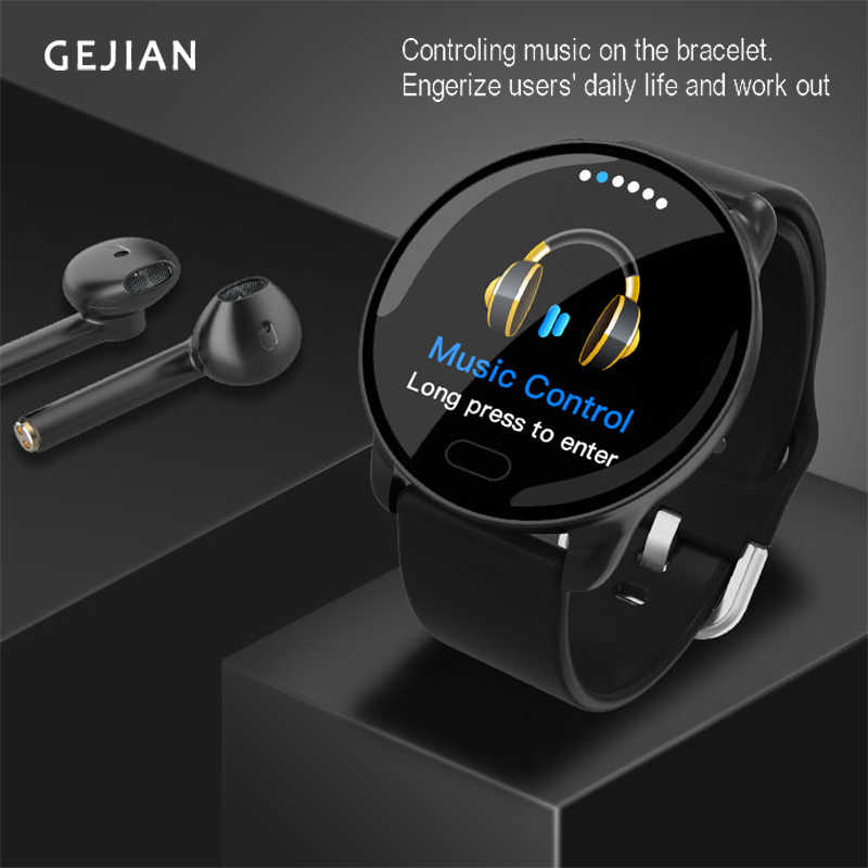 GEJIAN Smart Watch Fitness Tracker with Heart Rate Blood Pressure Monitor Men Women Outdoor Waterproof Sport Watches Pedometer