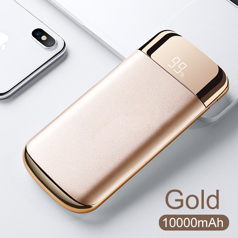 Image 5 - 10000mah mobile power external battery PoverBank 2 USB LCD mobile power portable mobile phone charger for HUAWEI iphone Samsung-in Mobile Phone Chargers from Cellphones & Telecommunications