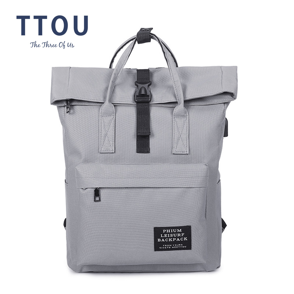 TTOU Fashion Backpack Women Leisure Back Pack Korean Ladies Knapsack Casual Travel Bags School Girls Classic Bagpack Laptop Bag