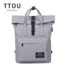 TTOU Fashion Backpack Women Leisure Back Pack Korean Ladies