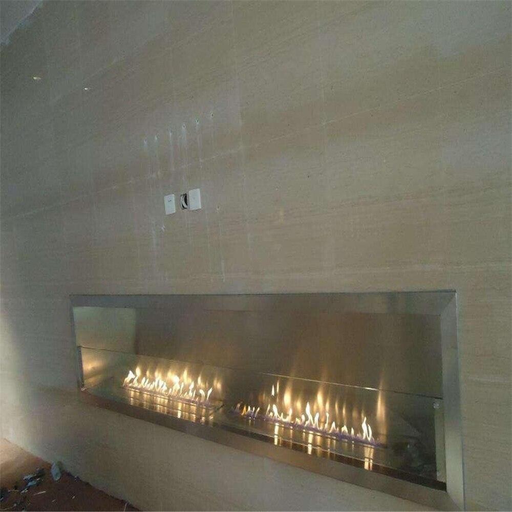 36 Inch Remote Control Intelligent Electric Bio Ethanol Fireplace Chimney Design