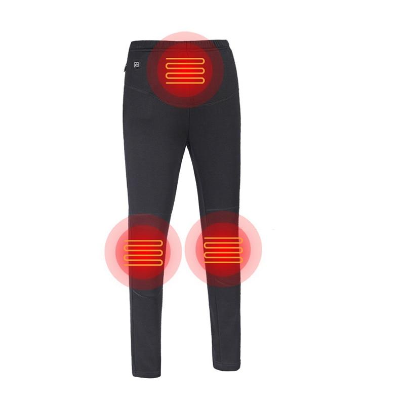 Women Hiking Heating Warm Pants Camping Climbing Fishing Heated Pants Outdoor Wear-Resisting Elastic Trousers S