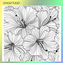 Daboxibo Bloemen In Volle Bloei Clear Stempels Voor Diy Scrapbooking/Card Making/Fotoalbum Siliconen Decoratieve Crafts13X13(China)