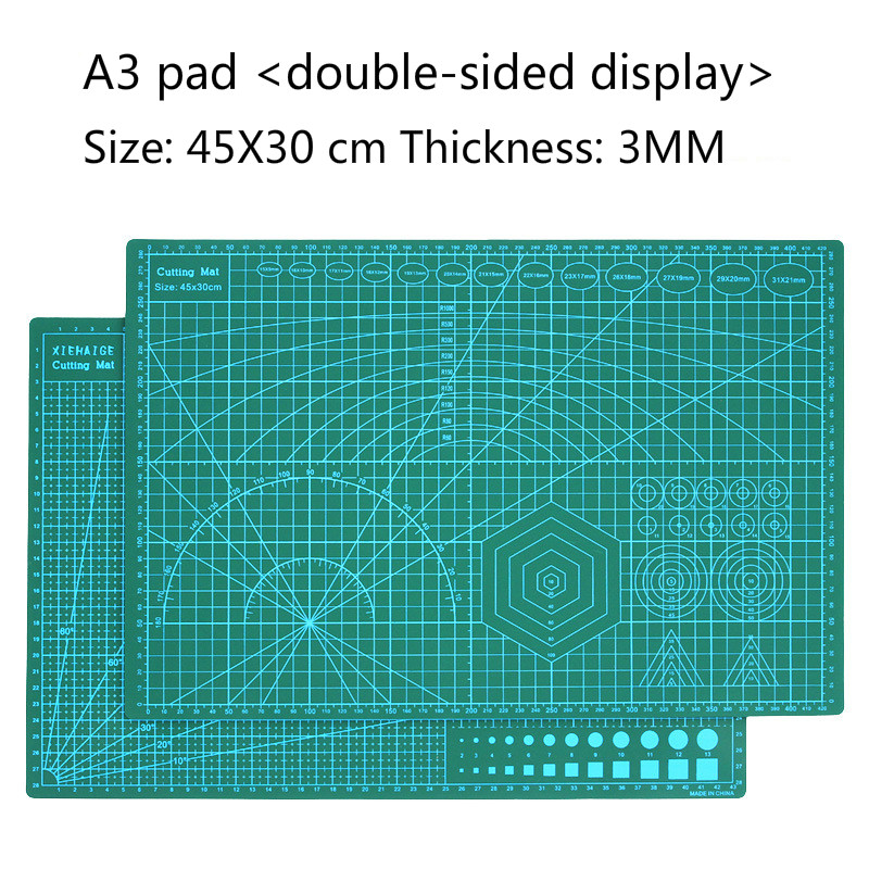 Pointless A3 Cutting Cushion Board Double-sided Cutting Board Cutting Paper Cushion Engraving Board Model Clay Anti-cutting Pad