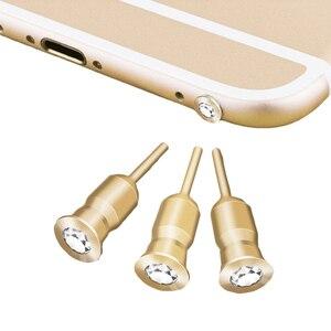 CatXaa разъем для наушников, пылезащитный Разъем, бриллиантовые наушники для мобильного телефона, 3,5 мм, металлическая крышка для наушников, дл...