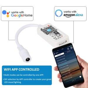 Image 5 - Dc 12v led tira rgb/rgbw/rgbww mini wifi led rgb rgbw controlador casa mágica 5050 rgb fita flexível app inteligente sem fio