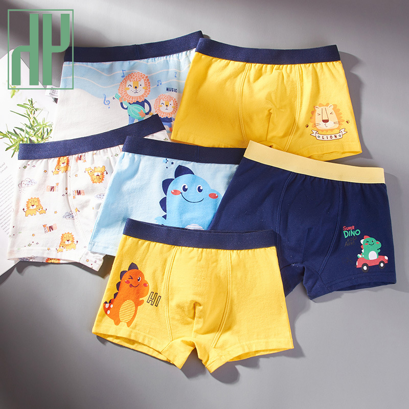 HH 3 Piece Baby Boy Underwear Cartoon Underpants Children's Shorts Panties for Boys Toddler Boxers Cotton Underpant For Teens