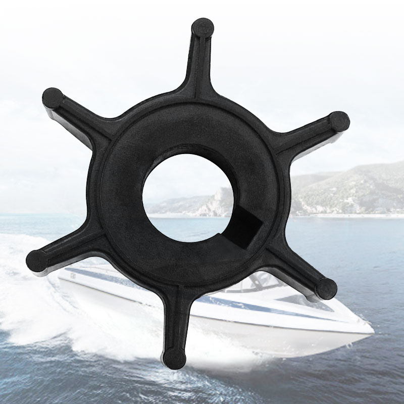Water Pump Impeller Black Rubber For Yamaha Outboard HJB-J-1611 Replace 6E0-44352-00/4-6HP 6 Blades Boat Parts & Accessories
