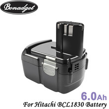 Bateria li-ion da substituição de bonadget 18v 6000mah para hitachi bcl1830 bcl1815 bcl1820 ebm1830 bateria recarregável das ferramentas elétricas