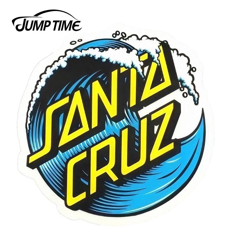 JumpTime 13cm X13cm Santa Cruz Wave Dot Vinyl Car Sticker Surfing Skating Board Waterproof Decal Car Side Stickers
