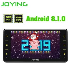 Image 1 - Joying ユニバーサル Android のカーラジオシングル 1 喧騒車のマルチメディアプレーヤー 6.2 インチ 2 グラム Ram ビデオヘッドユニット Carplay 無線 LAN Bluetooth DVR