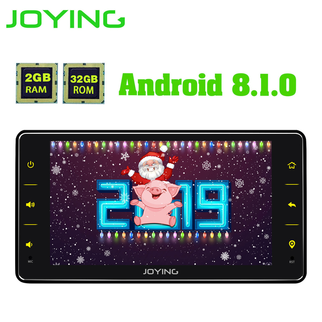 Joying ユニバーサル Android のカーラジオシングル 1 喧騒車のマルチメディアプレーヤー 6.2 インチ 2 グラム Ram ビデオヘッドユニット Carplay 無線 LAN Bluetooth DVR
