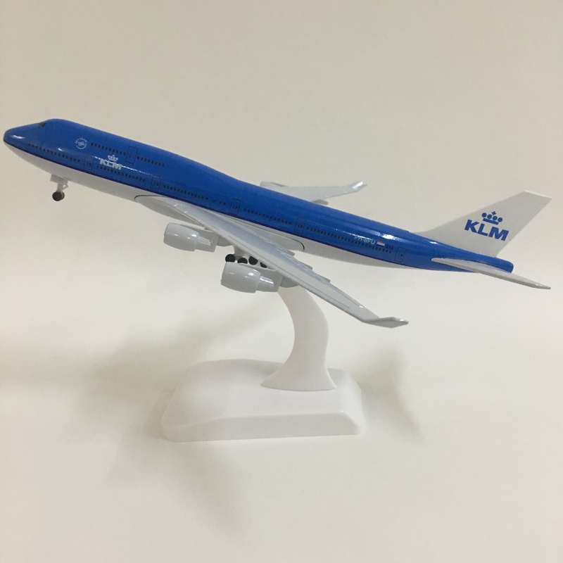 JASON TUTU 20cm Plane Model Airplane Model KLM Royal Dutch  Boeing 747 Aircraft Model 1:300 Diecast Metal Airplanes Plane Toys