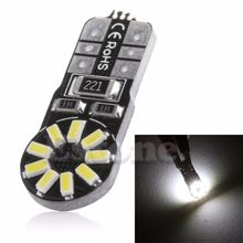 New 1PC DC 12V W5W 3014 SMD 18 LED Canbus Car Wedge Side Light Bulb Lamp White(China)