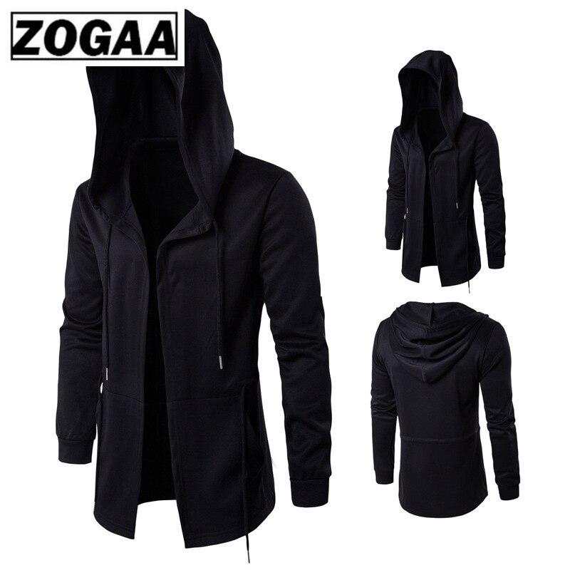 ZOGAA Men Hoodies Sports Casual Wear Zipper Fashion Tide Hooded Jacket Casual Wear Clothes Zip Up Hoody Jacket Assassin Master
