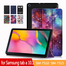 Case untuk Samsung Galaxy Tab 10.1 SM-T510/T515 Tablet Adjustable Folding Stand Cover untuk Samsung Galaxy Tab 10.1 2019 Case(China)