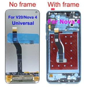 """Image 3 - מקורי 6.4 """"תצוגת עבור Huawei Honor V20 LCD הכבוד להציג 20 תצוגת מגע מסך Digitizer עצרת עבור Huawei נובה 4 מסך"""