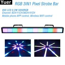 384Pcs LEDs RGB Pixel Wall Washer Strobe Light RGB 3IN1 LED Bar DMX Strobe Stage Lights For DJ Disco Party Bar Club Strobe Light ip65 ce good quality high power 36w rgb led wall washer rgb led wash light 12 3w rgb 3in1 24vdc ds t21a 36w rgb 50cm pc