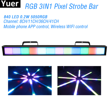 цена на 384Pcs LEDs RGB Pixel Wall Washer Strobe Light RGB 3IN1 LED Bar DMX Strobe Stage Lights For DJ Disco Party Bar Club Strobe Light