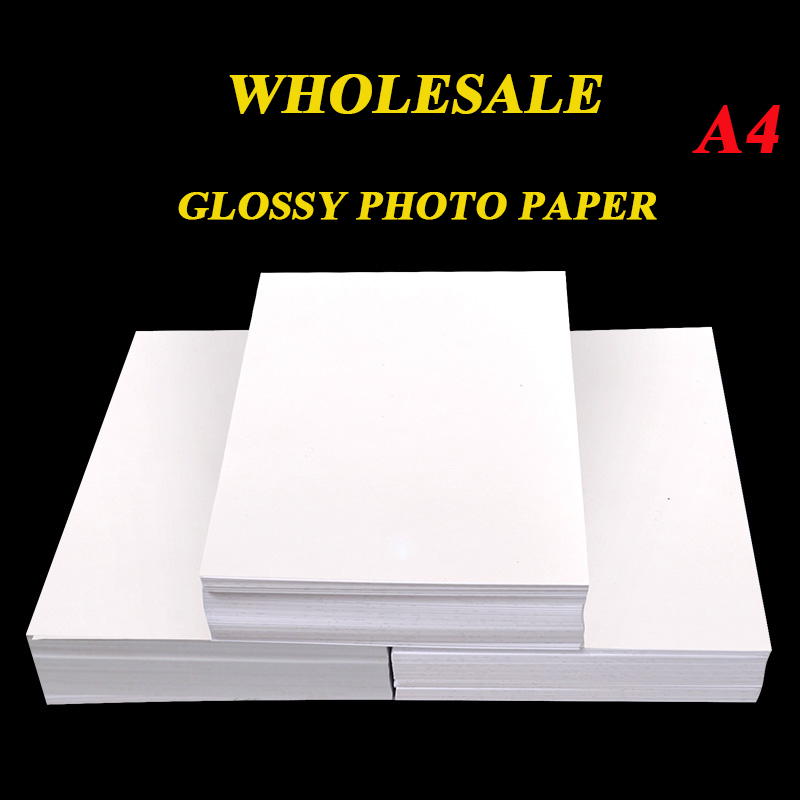 Wholesale A4 100 Sheets  High Glossy Photo Paper Glossy Printer Photographic Paper 180g 200g 230g