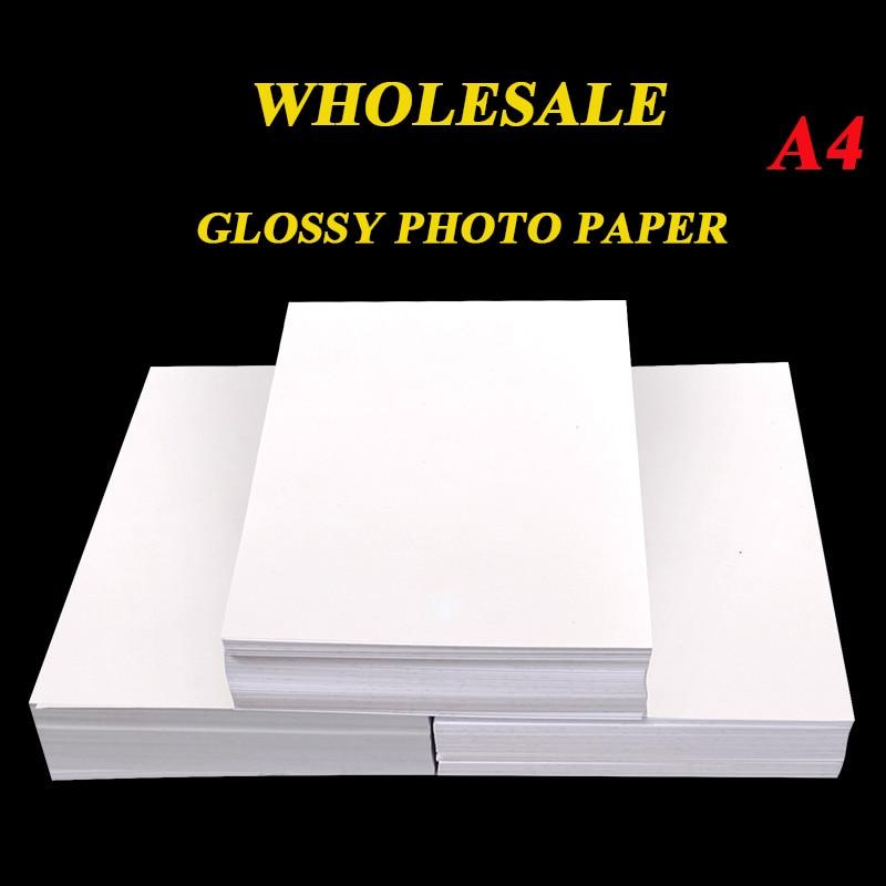 Atacado a4 100 folhas de papel fotográfico, alta brilhante impressora fotográfica 180g 200g 230g