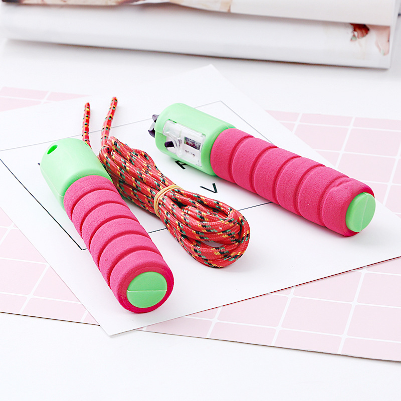 Students Young STUDENT'S Children Count Pattern Young STUDENT'S Sub-Kids Small Count Sponge Adult Fitness Braided Rope