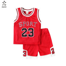 Promotion Children Sets Active Fashion Design Printing Letters Boys Sport For 2-7 Years Kids Summer Wear