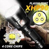 أقوى XHP90 مصباح ليد جيب XLamp التكبير الشعلة XHP70.2 USB قابلة للشحن مصباح مقاوم للماء استخدام 18650 26650 للتخييم