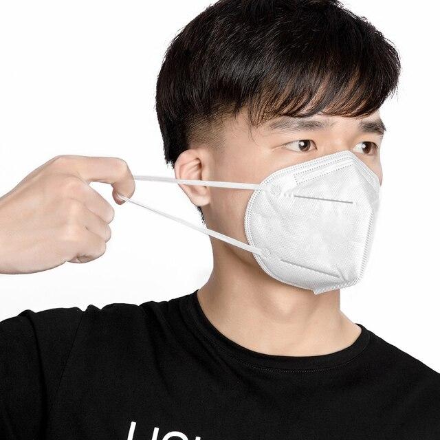 50 Pcs KN95 PM2.5 Anti-fog Protective Masks With filter 95% Respirator Reusable N95 Protective Mask ffp2 Flu Anti Infection Mask 2