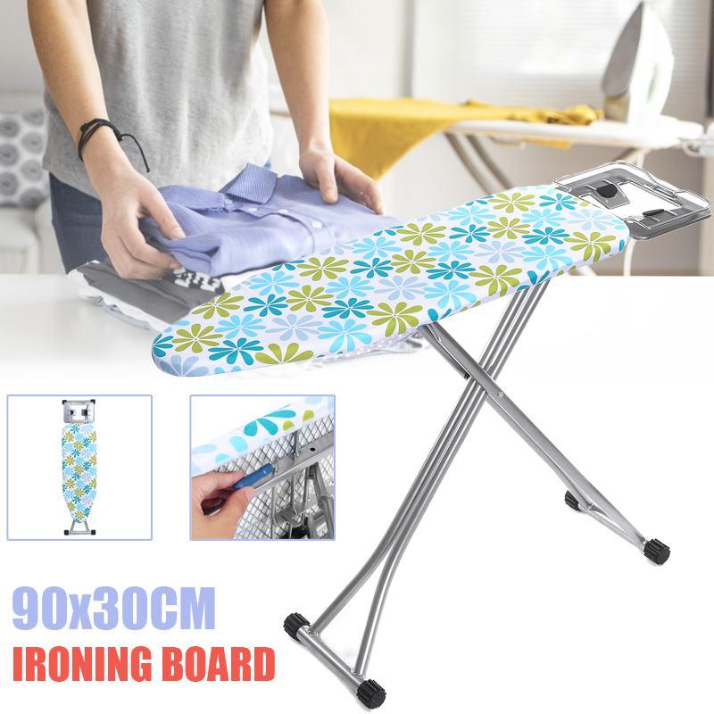 90*30CM pliable planche à repasser réglable tissu imprimé planche à repasser anti-dérapant épais maison outils vêtements manteau robe planche à repasser