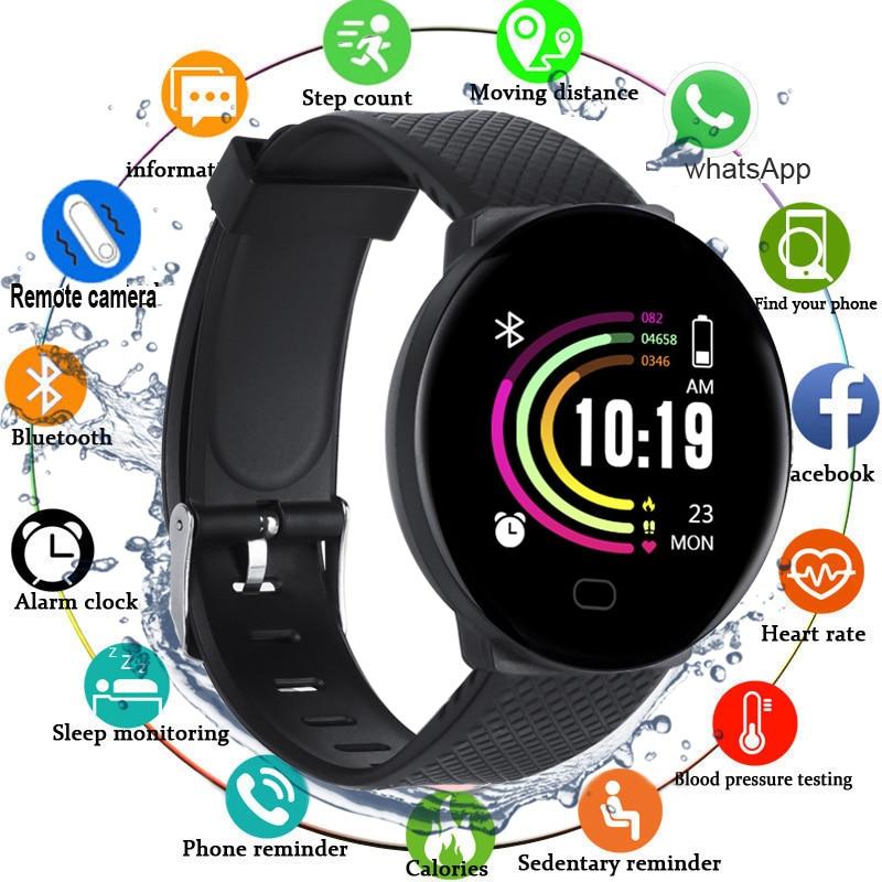 Sport Smart Watch Men Blood Pressure Smartwatch Women Waterproof Heart Rate Tracker Watch Smart Clock Watch For Android IOS 2020