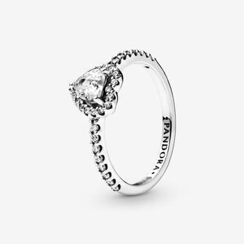 Silver Ring for Women Heart Pattern Jewelry Classic Rings Luxury Ring for Bride classic heart pattern bracelet for women