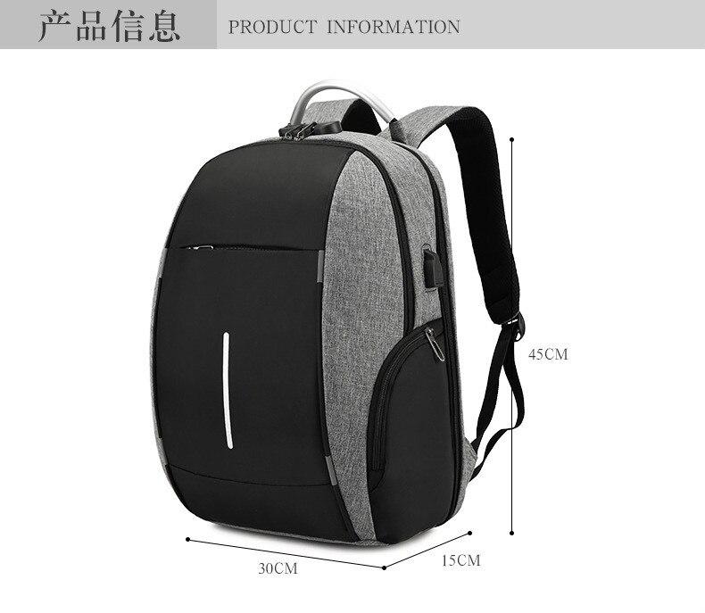 portátil mochila notebook men viagem escola mochila
