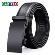 CARTELO For Men Automatic Male Belts Cummerbunds Leather Belt Men dropshipping Black Belts Genuine Leather Belts Luxury brand