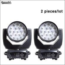 19x15W Zoom Waschen Moving Head Disco Licht Dmx Led Strahl Party Lichter Für Dj Nachtclub Bühne Beleuchtung wirkung 2 teile/los